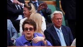 Borg, Billie Jean King watch supermon Serena enter Wimbledon final