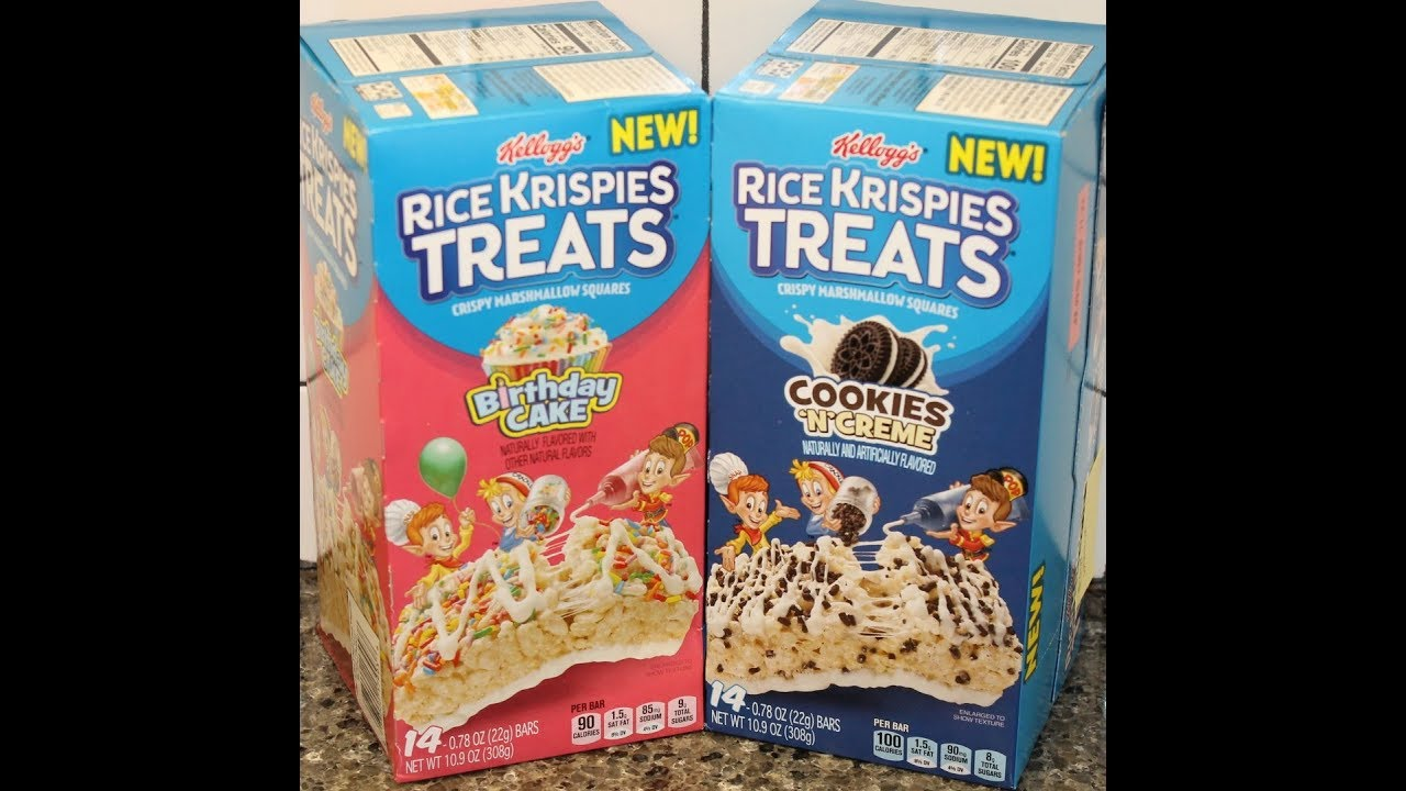 Cookies N Creme Birthday Cake Rice Krispies Treats Review Youtube