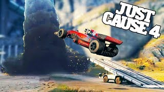 Driving The Best Vehicles Into The Tornado in Just Cause 4