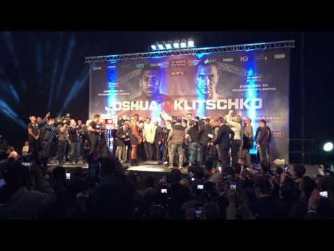 Klitschko v Joshua weigh in. Кличко - Джошуа взвешивание.