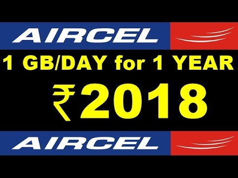 Aircel Offers 1GB 3G Data Per Day for 1 year at Rs 2018
