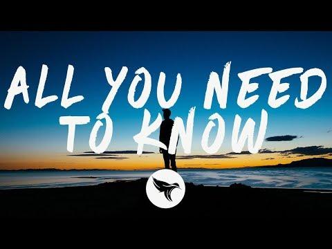 Gryffin & Slander - All You Need To Know (Lyrics) ft. Calle Lehmann