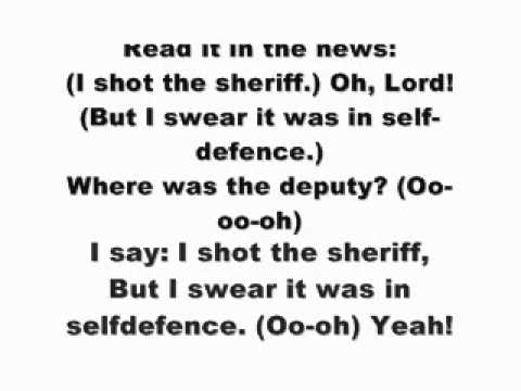 Bob marley - i shot the sheriffwith Lyrics on screen