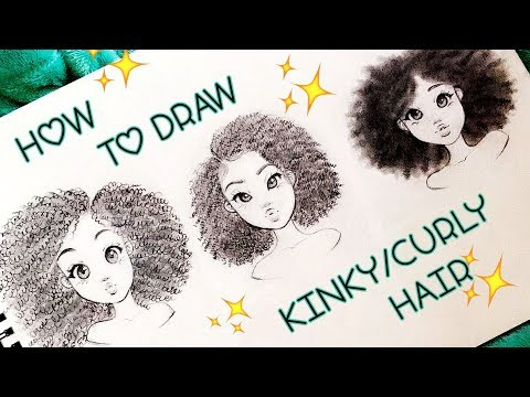 How to Draw KINKY/CURLY Hair Textures 4a,4b,4c ♡ | Christina Lorre'