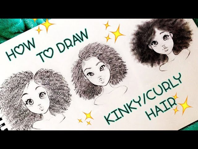 How To Draw Kinky Curly Hair Textures 4a 4b 4c Christina Lorre Youtube