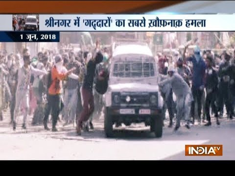 CRPF vehicle attacked by stone pelters in Jammu and Kashmir's Srinagar