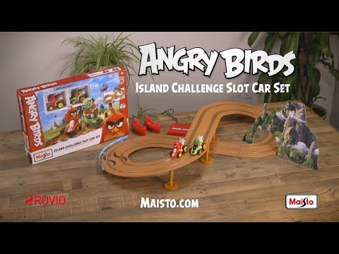 Angry Birds Island Challenge slot car set by Maisto