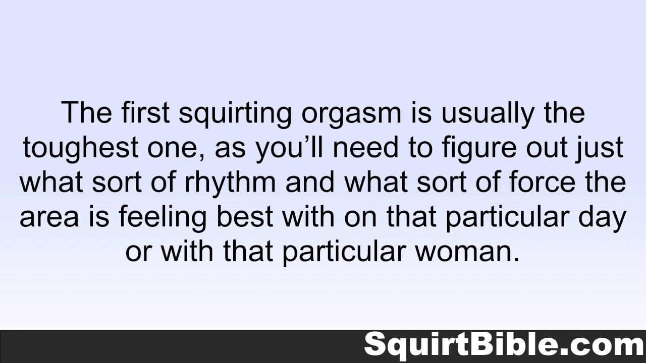 Congratulate, Multiple squirting orgasm woman assured, what