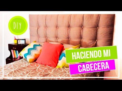 HACER UNA CABECERA PARA CAMA | DIY | CAROLITHO - YouTube