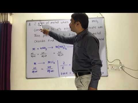 Law Of Chemical Equivalence / Law Of Gram Equivalent