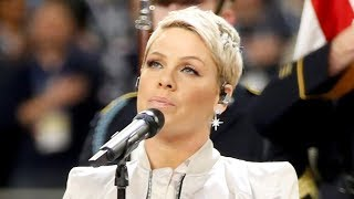 Pink SLAMS Troll Who Criticized Her Super Bowl National Anthem Performance