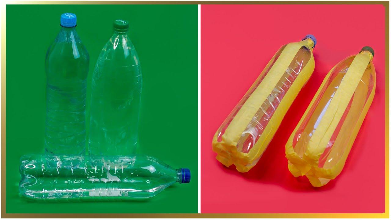 Super idee de reciclare a pet-urilor. Cu eforturi minime decor pentru casă!