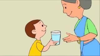 Hindi Cartoon-Film, Gesunde Kinder, Glückliche Familie
