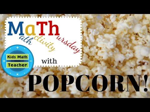 Kids Math Teacher - Math activity Thursday with Popcorn! Fun with #math!