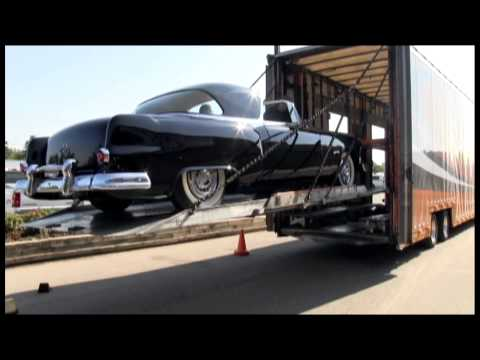 The 1953 Pontiac Parisienne Concept Car is unloaded. An original GM Motorama Classic
