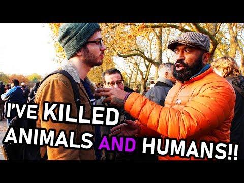 Ex-Military Defeats Vegan Activist!