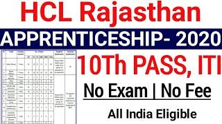 HCL Apprentice Recruitment 2020| Hindustan Copper Limited Apprentice Vacancy 2020|ITI Apprenticeship