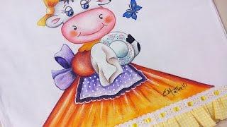 Beth Matteelli – Pintura em Pano de Copa Vaquinha do Lar