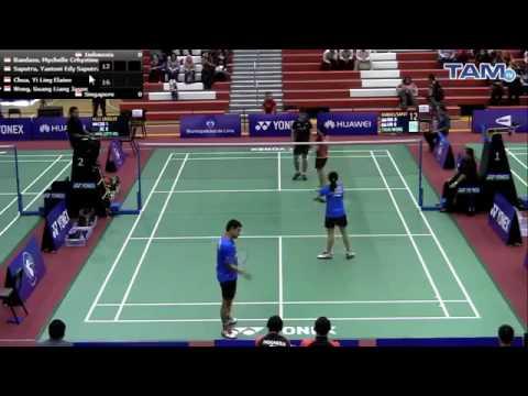 Mychelle Crhystine Bandaso/Yantoni Edy vs Yi Ling Elaine Guang Liang world junior champion