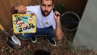 FOUND A TIME CAPSULE WHILE METAL DETECTING IN MY BACKYARD!!! YOU WON'T BELIEVE WHAT WAS IN IT..