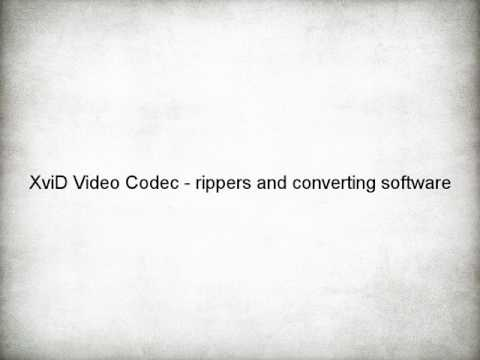 XviD Video Codec - rippers and converting software - Download Link