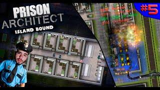 INCÊNDIO, ALA DOS MALUCOS E CONTRABANDO!!! ? - PRISON ARCHITECT #5 - (Gameplay/PC/PTBR) HD
