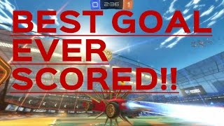 The best goal ever scored on rocket league!! (goals and saves)