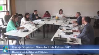 Concejo Municipal Miércoles 01 de Febrero 2017