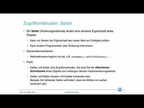 Objektorientierung: Datenkapselung / Information Hiding
