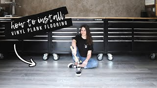 How To Install Vinyl Plank Flooring   Shed-Shop Update