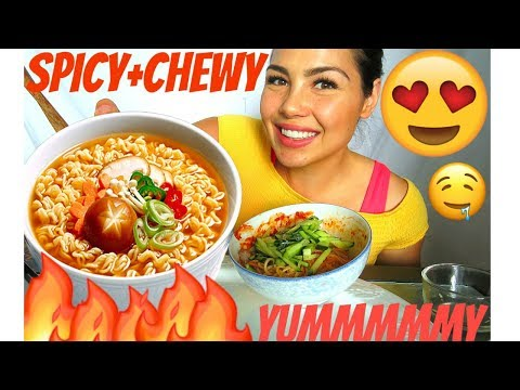 MUKBANG 먹방 KOREAN SPICY CHEWY NOODLES RECIPE 쫄면 SOCIAL EATING 40k GIVEAWAY - I have a confession!