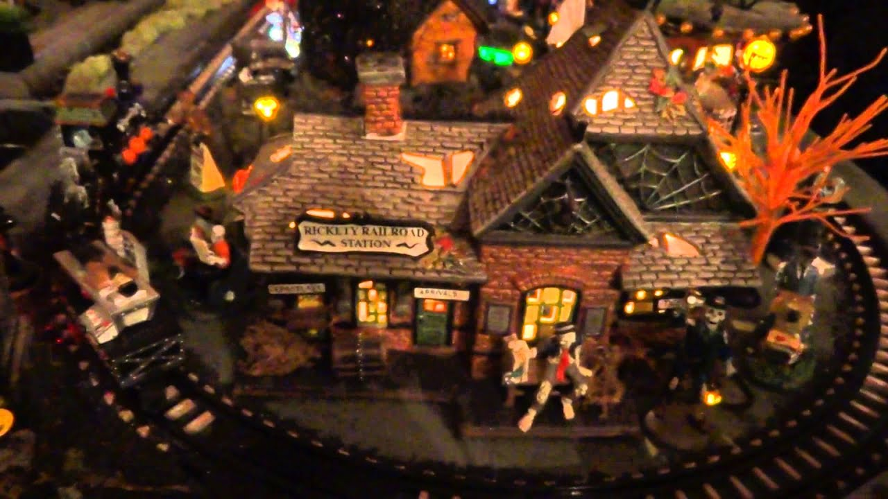 dept 56 and lemax spookytown 2014 halloween village