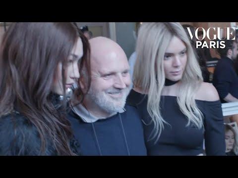 Sam McKnight, Gigi Hadid, Kendall Jenner... at Balmain during Fashion Week |  #VogueFollows