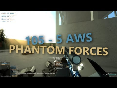 105 -5 with the AWS in ROBLOX Phantom Forces