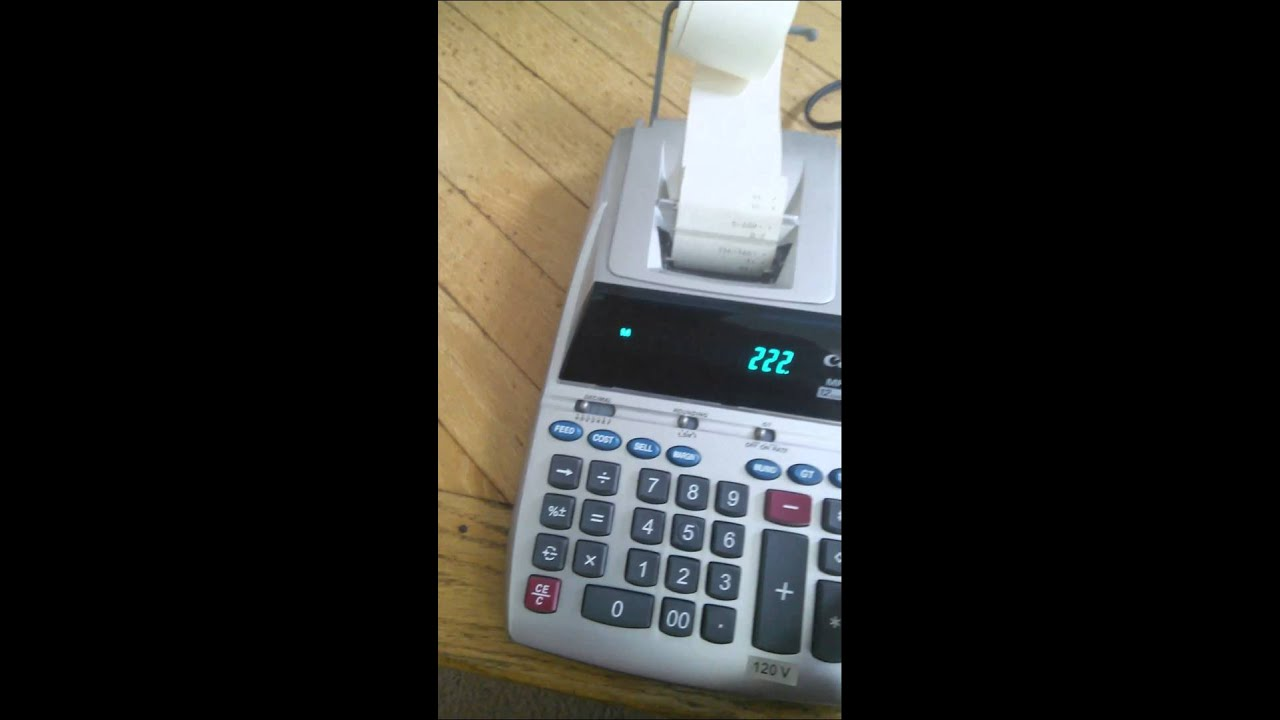 canon mp18d ii printing calculator youtube rh youtube com Canon 10-Digit Calculator Solar canon mp18d calculator maual