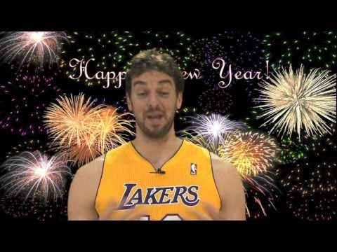 Happy New Year's from the Lakers
