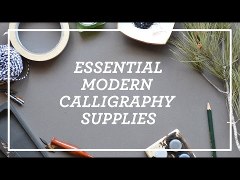 Essential Modern Calligraphy SUPPLIES || Paper, ink, nibs & suppliers