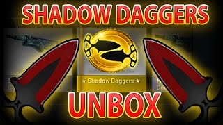 CS:GO SHADOW DAGGERS CRIMSON WEB UNBOXING