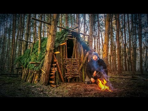Primitive Technology: Wood Roof Hut Fanvideo