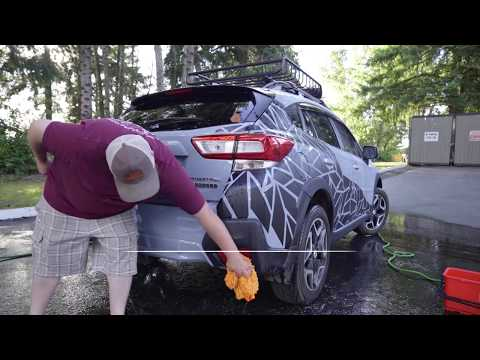 Washing a car with a ceramic coating and vinyl decals