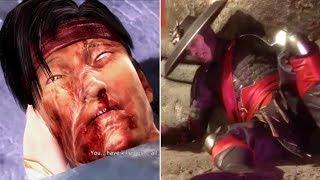 Raiden Kills Liu Kang VS Liu Kang Defeats Raiden - MORTAL KOMBAT