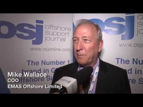 Mike Wallace COO of EMAS Offshore Limited speaking at the Asian Offshore Support Journal Conference