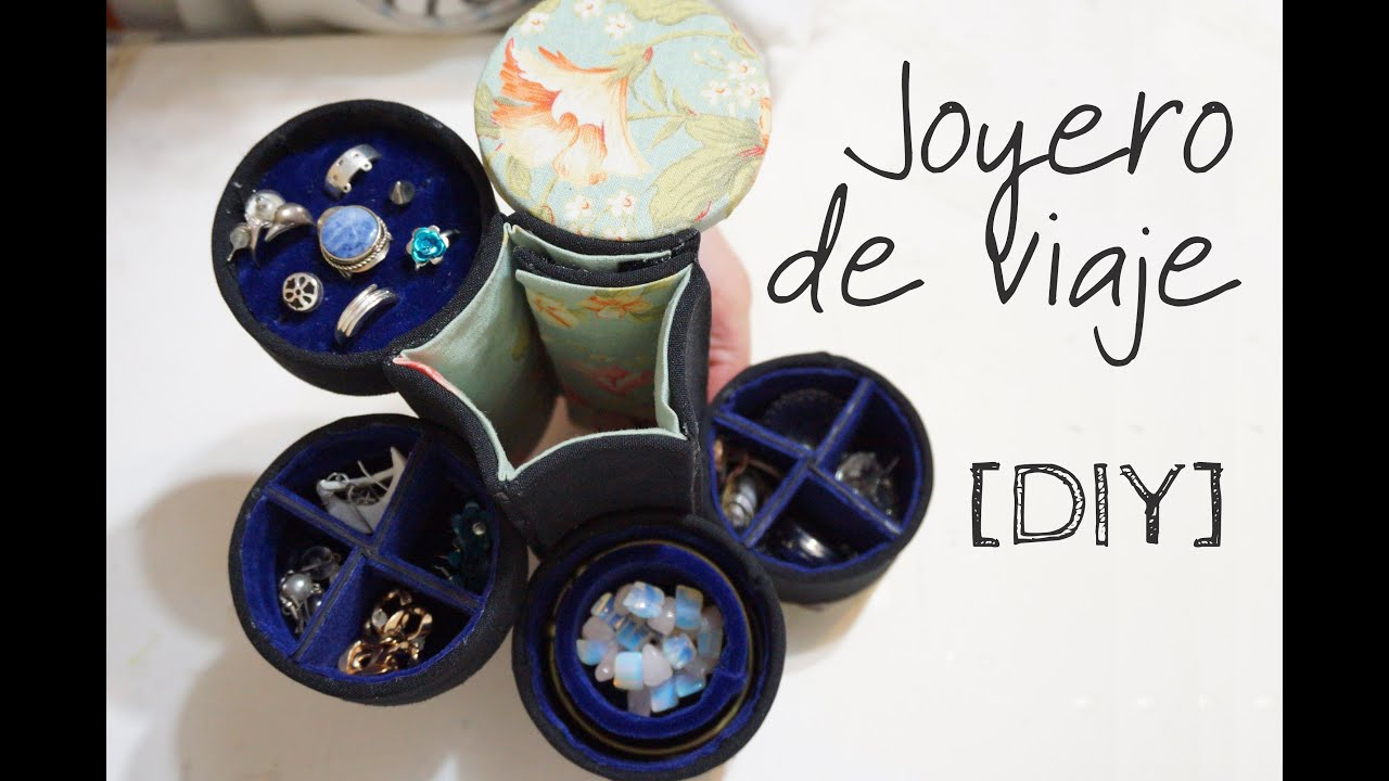 Diy joyero con tubo de cart n youtube - Tubos de carton ...