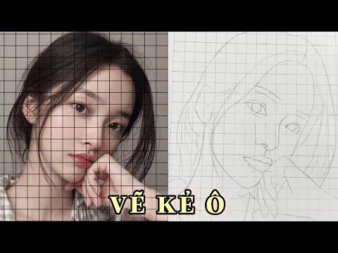 DỰNG HÌNH KẺ Ô | vẽ khuôn mặt người | 100% ✨💕 | Tất tần tật những thông tin về vẽ chân dung bằng bút chì ở đâu chuẩn nhất