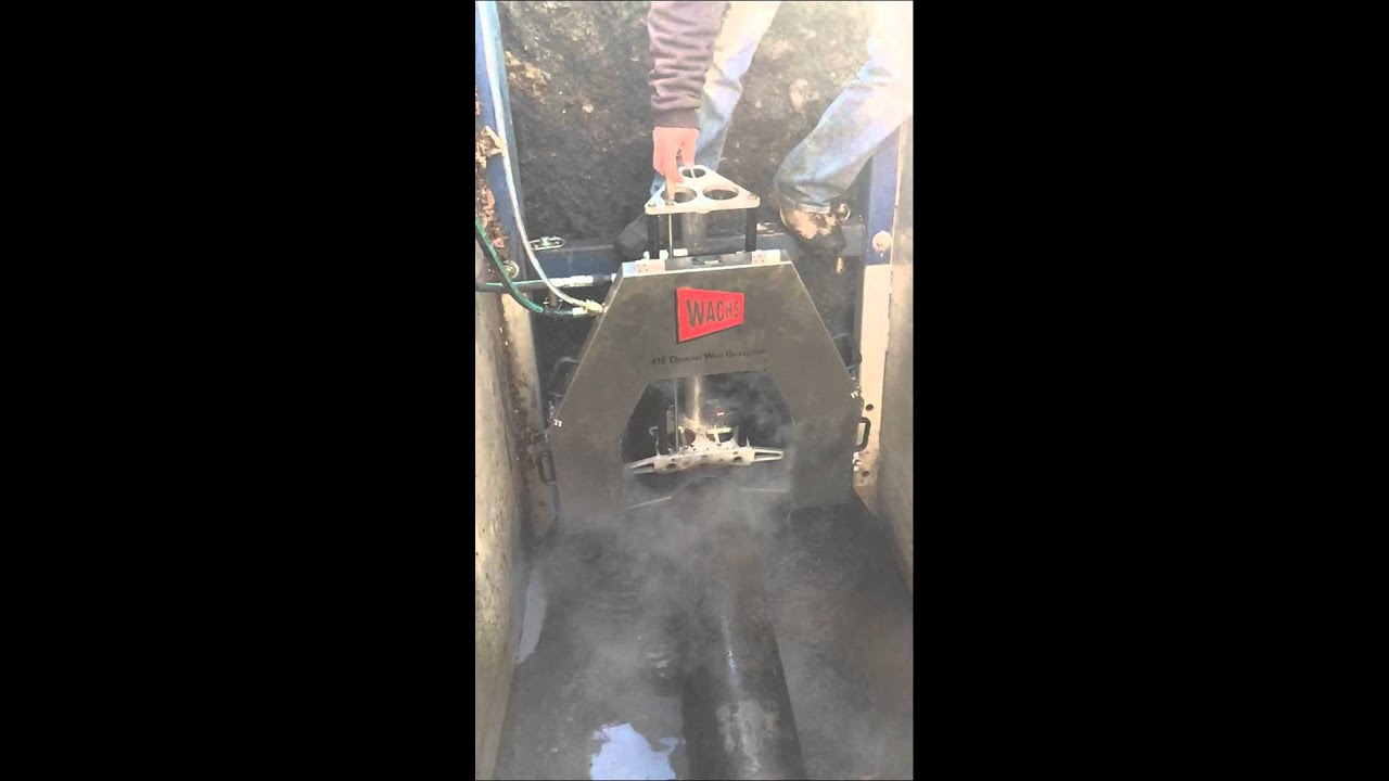 Wachs diamond cut guillotine saw - YouTube