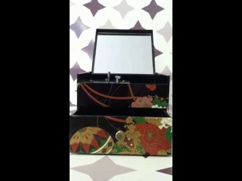 Japanese Musical Jewelry Box- Vintage 1960s- Plastic