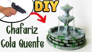 DIY: Chafariz Antigo em Miniatura - Hot Glue Fountain Tutorial    Ideias Personalizadas - DIY