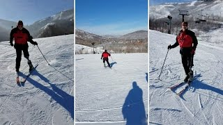 Inspirational Amputee Begins To Ski Again