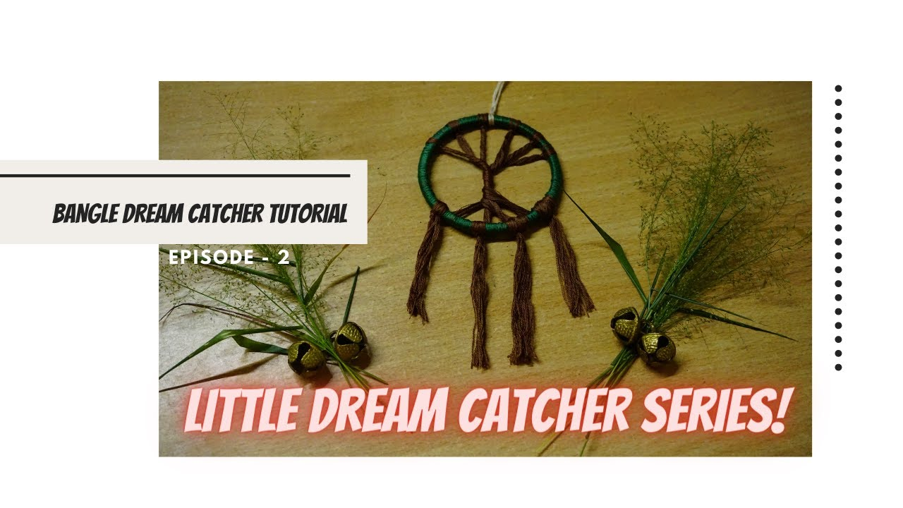 Make a simple tree of life dream catcher using bangles with simple steps || Dream Catcher Series