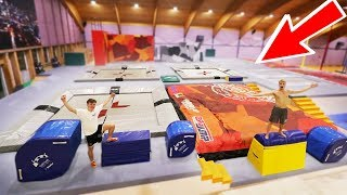WORLD'S BIGGEST TRAMPOLINE PARK OBSTACLE COURSE!